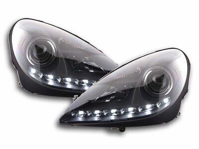Scheinwerfer Set Daylight LED Tagfahrlicht für Mercedes SLK R171 04-11 schwarz