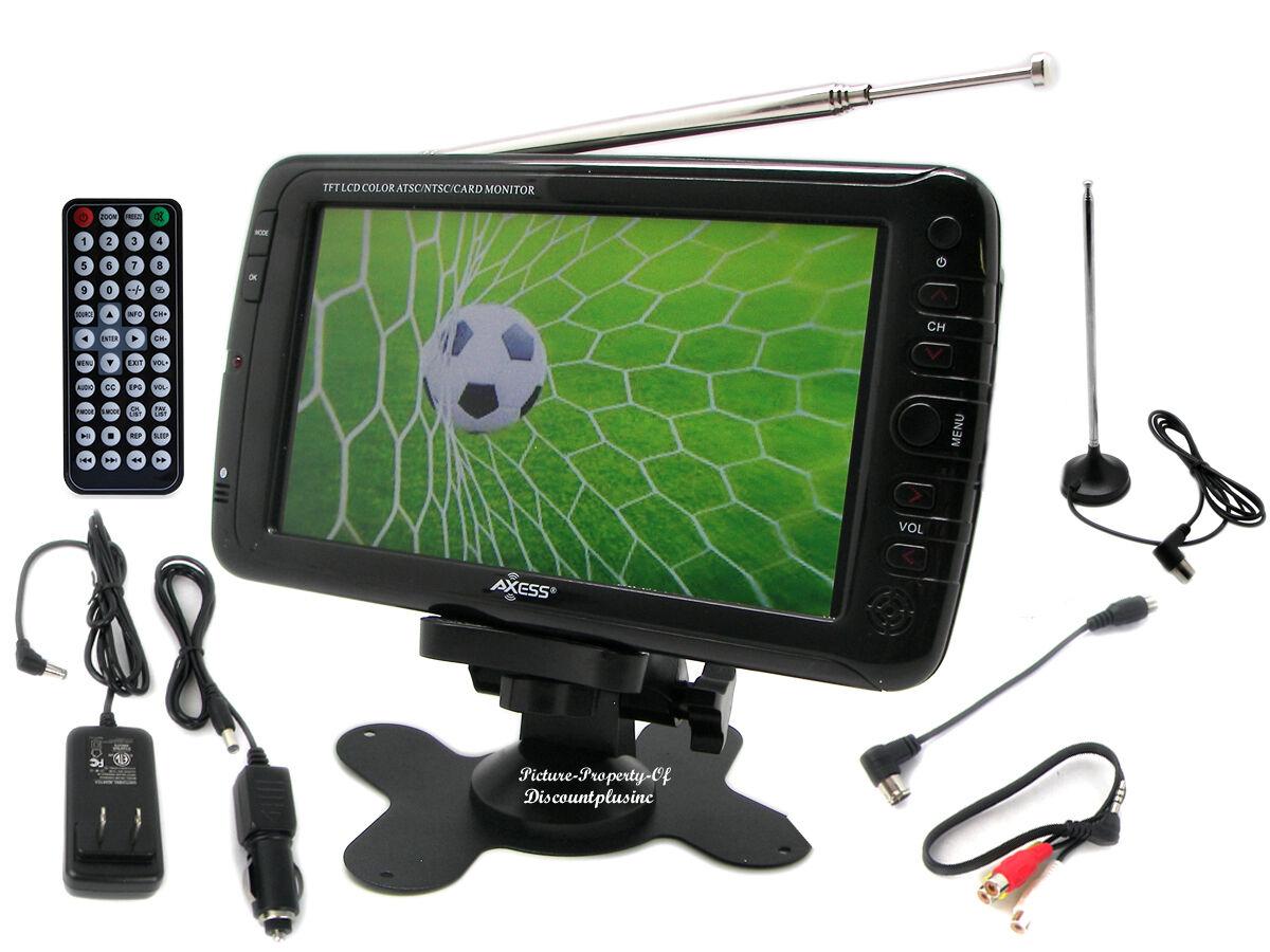 Portable T V S : Inch portable rechargeable atsc ntsc digital lcd tv w