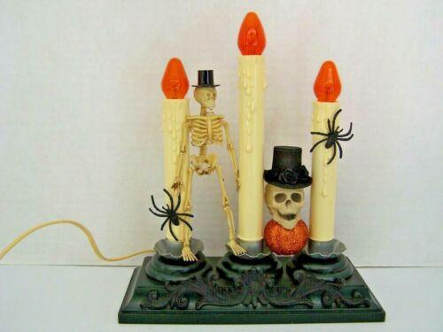 Halloween  3-Candolier Skeletons