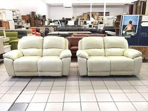 100% LEATHER 2 x 2 SEATER ELECTRIC RECLINER LOUNGE SUITE Brisbane City Brisbane North West Preview