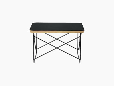 Herman Miller  Eames Wire Base Low Table Authentic Brand new Black Top for sale  Northbrook