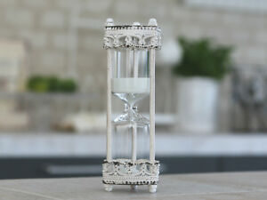 Stundenglas*Sanduhr*Chic Antique*Antikweiß*Landhaus*Shabby*Romantik*Groß*5Min.*