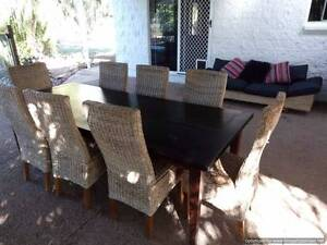 Outdoor dining setting 8 seat + lounge chair Nome Townsville Surrounds Preview