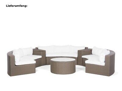 Gartenbank Terrassen Lounge Bank Varano Rattan