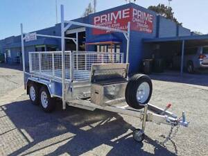 8x5ft TANDEM Trailer w/H-FRAME, SPARE TYRE, 600mm CAGE & TOOLBOX Wingfield Port Adelaide Area Preview