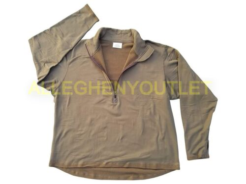 US Military Gen 3 Cold Weather Grid Fleece Midweight Shirt Coyote S-L VGC