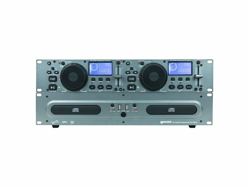 Gemini DJ Rackmount Dual CD Media Player with USB - CDX-2250i