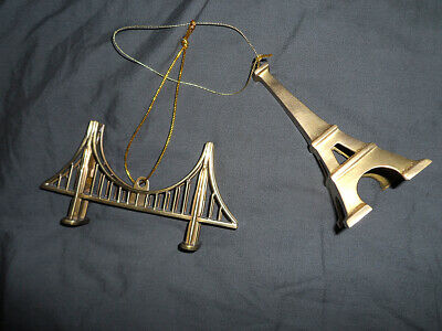 Restoration Hardware Christmas Tree Ornaments (2) Metal ()
