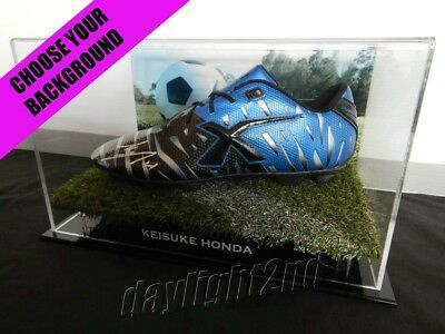 ✺Signed✺ KEISUKE HONDA Boot PROOF COA Melbourne Victory 2019 Jersey Japan image