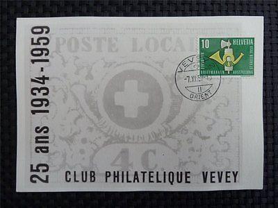 SCHWEIZ MK 1959 669 NABAG ST. GALLEN MAXIMUMKARTE CARTE MAXIMUM CARD MC CM c2833