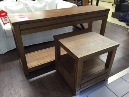 BENNELONG CONSOLE + SIDE TABLE BY OZ DESIGN - SOLID TIMBER Logan Central Logan Area Preview
