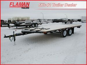 Trailtech 16' 3-Place Sled/UTV Trailer - New Split Ramp!