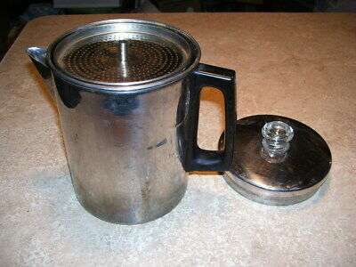 Vintage Kitchen 9 Cup Chrome Camping Coffeepot