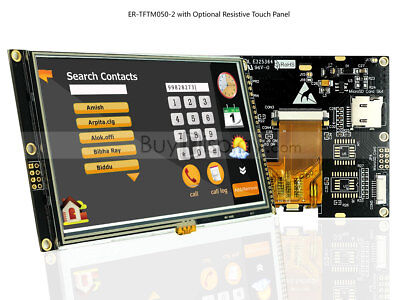5 5.0 Inch Tft Lcd Module Displaywra8875touch Paneli2cserialspitutorial