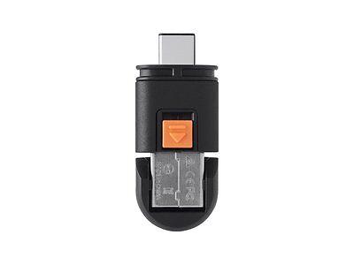 Monoprice Dual Mode USB-C MicroSD Reader Black 13506 New