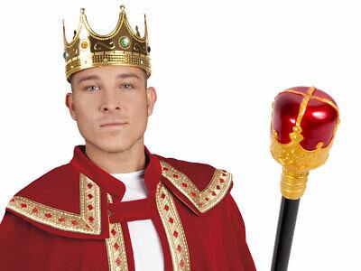 Prinz König Erwachsenen Köstum (Kv-148) mit Königskrone und Königs-Zepter