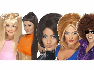 Spice Girls Wig 1990s Fancy Dress Accessory Sporty Posh Baby Ginger Scary Spice](Scary Spice Wig)