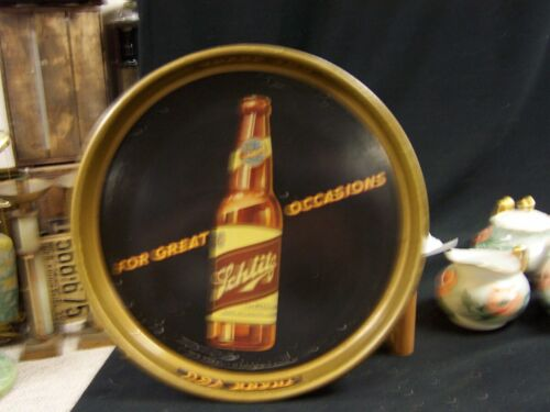 "Original Advertising Schlitz ""Beer that Made Milwaukee Famous"" Tin Serving Tray"