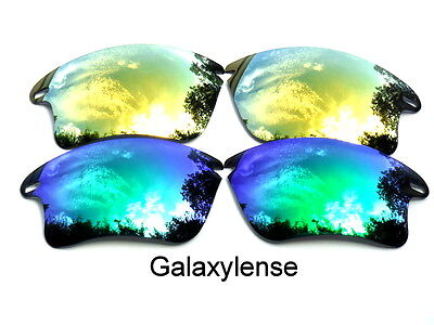 Galaxy Replacement Lenses For Oakley Fast Jacket XL Sunglasses Green&Gold  for sale  Shipping to India