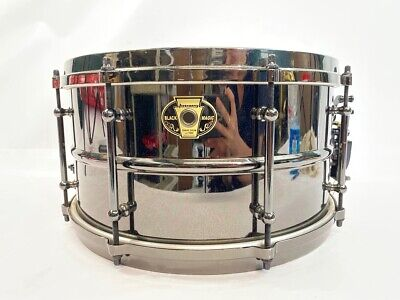 Ludwig 7x13 Black Magic Brass Snare Drum-Chrome (mee) (PBR045094)
