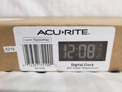AcuRite - 75100 - Large LED Digital Wall Clock Indoor Temperature NON WORKING