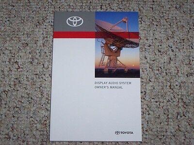 2014 Toyota Tacoma Display Audio Navigation System Owner User Manual PreRunner