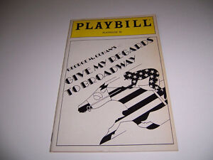 1987 PLAYHOUSE 91 THEATRE PLAYBILL - GIVE MY REGARDS TO BROADWAY - RAY ALLEN