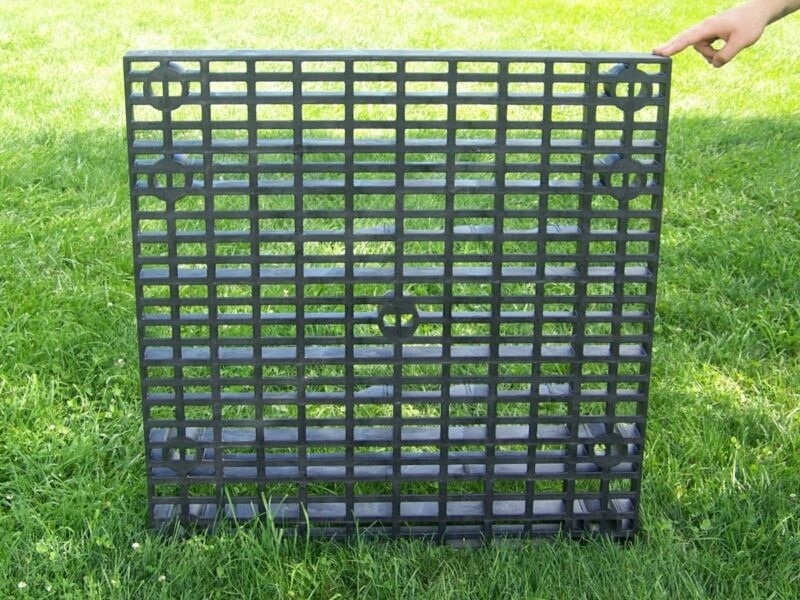 """36"""" Square Heavy Duty Grate for Pond Fountain Basin/Water Reservoir-pondless"""
