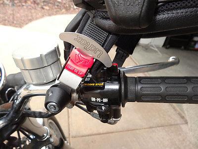 Lidlox Handle Bar Mount Helmet Lock Pair for Metric Bikes, Black.