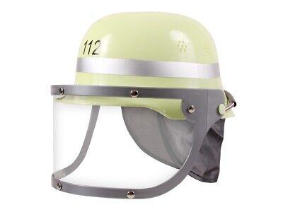 Feuerwehrhelm für Kinder Erwachsene Spielzeug-Helm Kunststoff klappbares Visier ()