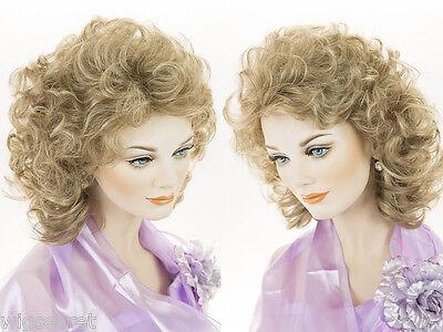 19 in Long Classic Medium Length Blonde Brunette Red Wavy Curly - Long Brunette Wig