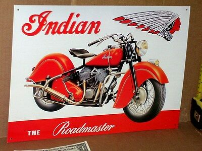 INDIAN ROADMASTER - American Motorcycle - EARLY BIKE -Really Shows Detail - SIGN for sale  Boston