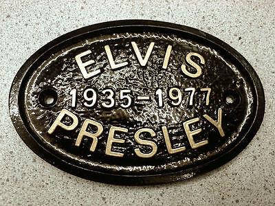 ELVIS PRESLEY DATED - HOUSE DOOR PLAQUE SIGN GARDEN