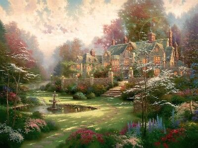 Thomas Kinkade Gardens Beyond Spring Gate Offset Lithograph signed numbered