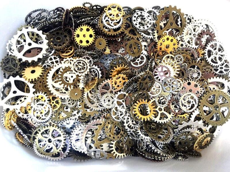 100g Pieces Lots Vintage Steampunk Wrist Watch Parts Gears W