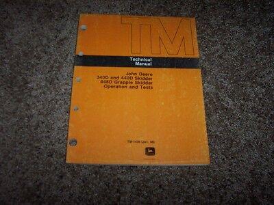 John Deere 340d 440d 448d Grapple Skidder Service Repair Technical Manual Tm1436