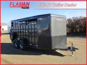 Travalong 16' Bumperpull Stock Trailer - 2x 6000 lb Axles!