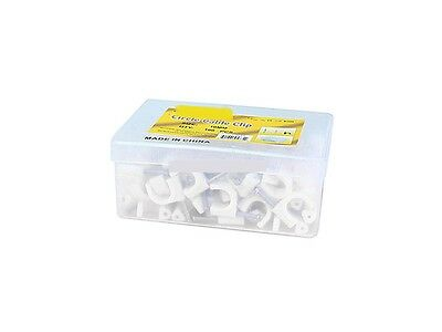 Circle cable clips with steel nail, 10mm, 100pcs/Pack