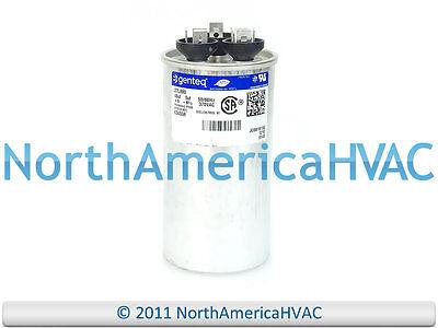 GE Genteq Capacitor Dual Run Round 45/5 uf MFD 370 Volt VAC