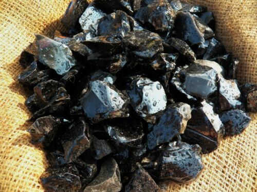 1000 Carat Lots of Black Obsidian Rough - Plus a Very Nice FREE Faceted Gemstone