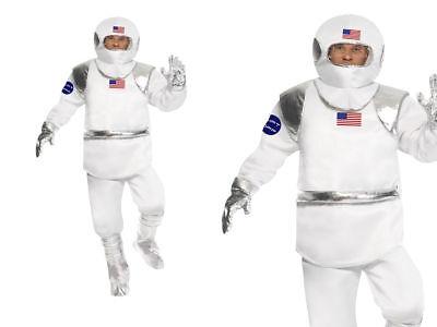 Erwachsene Herren Spaceman Kostüm Astronaut Nasa Fach Flieger-Anzug Schicke (Spaceman Anzug Kostüme)