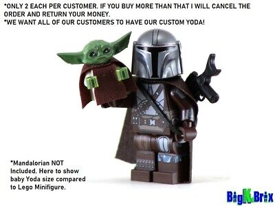 BABY YODA Custom Printed Head on Lego Minifigure! Star Wars