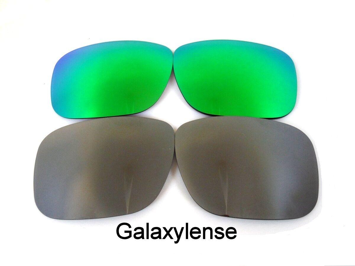 Lentes de repuesto Galaxy Oakley Holbrook verde y titanio polarizado! 2  pares b4da62df9c