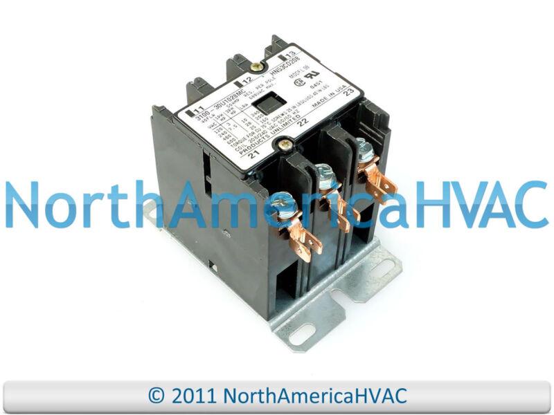 OEM Carrier Bryant Payne Contactor Relay 3 Pole 40 Amp HN53CD208 3100-30U1028MC