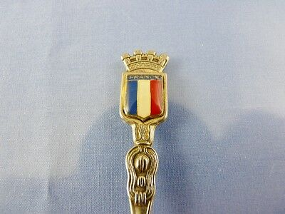 SILVERPLATE & ENAMEL  SOUVENIR SPOON  FRANCE BY RS FRANCE