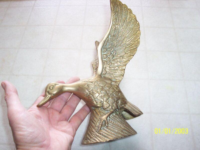 Regal Brass Goose Figurine