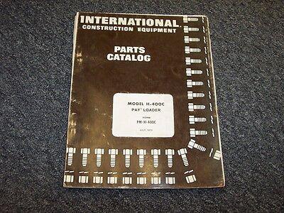 International Harvester Hough H400c Pay Loader Wheel Loader Parts Catalog Manual