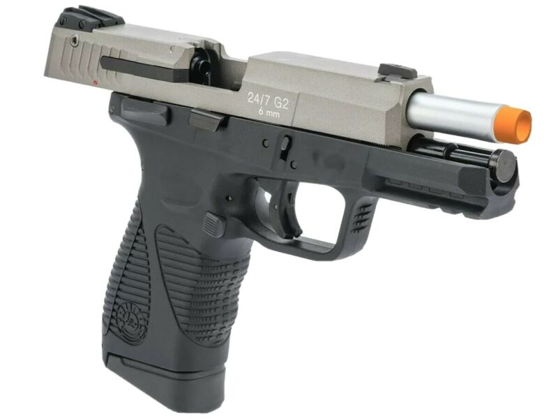 CO2 Gas Blowback 24/7 G2 full Taurus metal Airsoft Pistol by Softair 425 FPS