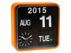 Karlsson Mini Flip Orange Clock Calendar Digital Stylish Designer Timepiece