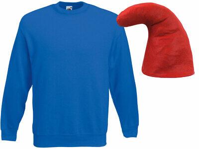 blaues Zwergen Verkleidung (Kv-142) blauer Pullover und rote Zwergenmütze - Rote Und Blaue Kostüm